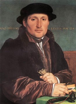 Hans Holbein the Younger Painting - Unknown Young Man at his Office Desk Renaissance Hans Holbein the Younger