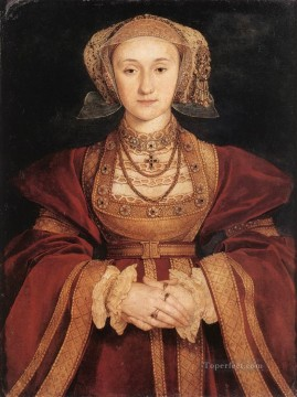 Hans Holbein the Younger Painting - Portrait of Anne of Cleves Renaissance Hans Holbein the Younger