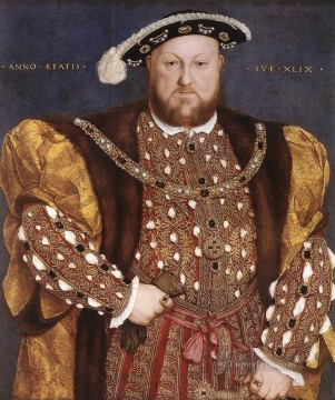 Hans Holbein the Younger Painting - Portrait of Henry VIII Renaissance Hans Holbein the Younger