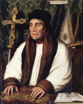 Hans Canvas - Portrait of William Warham Archbishop of Canterbury Renaissance Hans Holbein the Younger