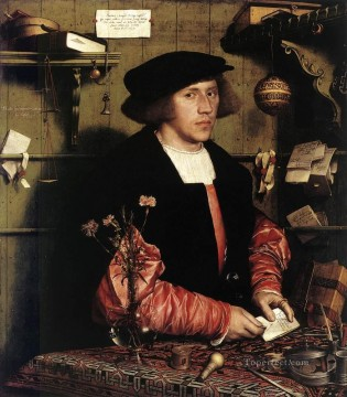 Portrait of the Merchant Georg Gisze Renaissance Hans Holbein the Younger Oil Paintings