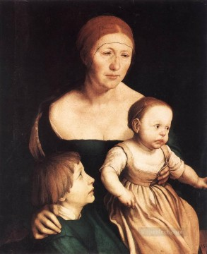 Artists Oil Painting - The Artists Family Renaissance Hans Holbein the Younger