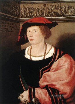 Hans Canvas - Portrait of Benedikt von Hertenstein Renaissance Hans Holbein the Younger