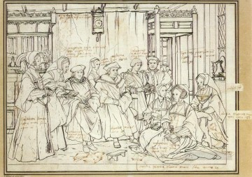 renaissance works - Study for the Family Portrait of Sir Thomas More Renaissance Hans Holbein the Younger