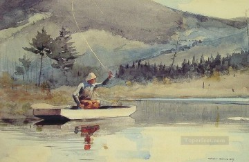 Sun Oil Painting - A Quiet Pool on a Sunny Day Realism marine painter Winslow Homer