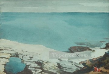 Winslow Homer Painting - Natural Bridge Bermuda Realism marine painter Winslow Homer