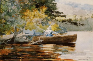Winslow Homer Painting - A Good One Realism marine painter Winslow Homer