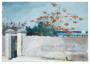 Winslow Homer Painting - A Wall nassau Realism painter Winslow Homer
