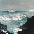 Cannon Rock Realism marine painter Winslow Homer