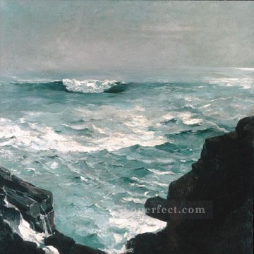 Winslow Homer Painting - Cannon Rock Realism marine painter Winslow Homer