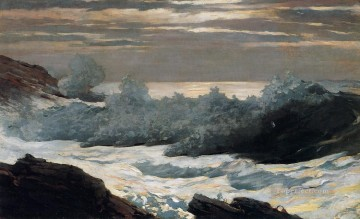 marine Oil Painting - Early Morning After a Storm at Sea Realism marine painter Winslow Homer