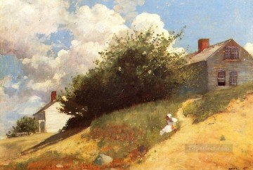 realism - Houses on a Hill Realism painter Winslow Homer