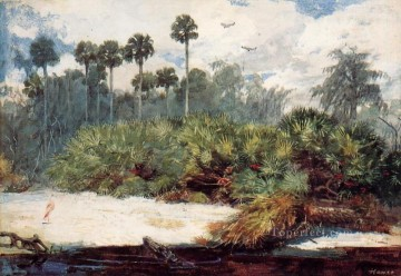 Winslow Homer Painting - In a Florida Jungle Realism painter Winslow Homer