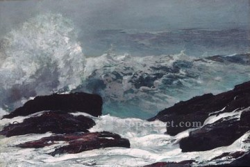 Coast Painting - Maine Coast Realism marine painter Winslow Homer