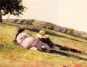 On the Hill Realism painter Winslow Homer Oil Paintings