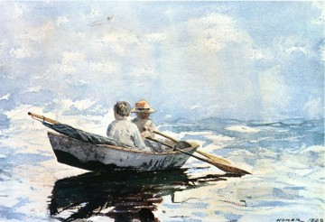 Row Painting - Rowboat Realism marine painter Winslow Homer