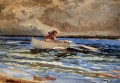 Rowing at Prouts Neck Realism marine painter Winslow Homer