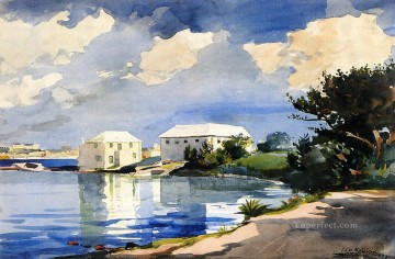 marine Oil Painting - Salt Kettle Bermuda Realism marine painter Winslow Homer