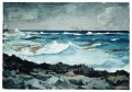 Shore And Surf Nassau Realism marine painter Winslow Homer