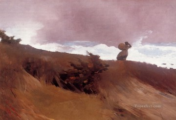 Winslow Homer Painting - The West Wind Realism painter Winslow Homer
