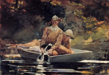marine Oil Painting - After the Hunt Realism marine painter Winslow Homer