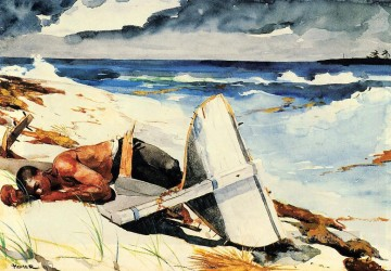 Winslow Homer Painting - After the Hurricane Realism marine painter Winslow Homer