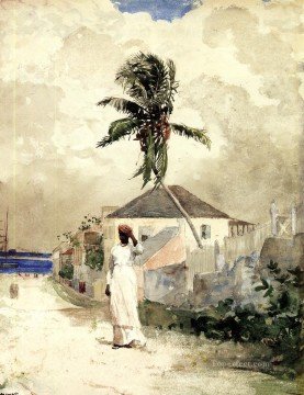 realism - Along the Road Bahamas Realism painter Winslow Homer