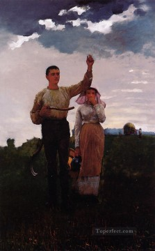 aka Works - Answering the Horn aka The Home Signal Realism painter Winslow Homer