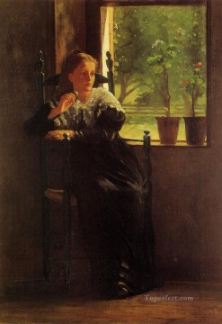 Winslow Homer Painting - At the Window Realism painter Winslow Homer