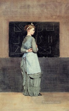 Blackboard Realism painter Winslow Homer Oil Paintings