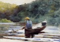 Boy Fishing Realism marine painter Winslow Homer