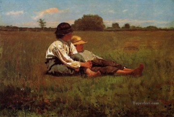 Boy Art - Boys in a Pasture Realism painter Winslow Homer