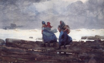 Fisherwives Realism painter Winslow Homer Oil Paintings