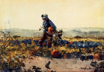 farm Works - For the Farmers Boy old English Song Realism painter Winslow Homer