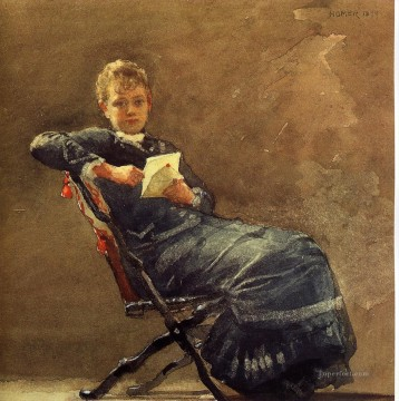 Winslow Homer Painting - Girl Seated Realism painter Winslow Homer