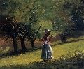 Girl with a Hay Rake Realism painter Winslow Homer