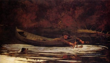 hunt Painting - Hound and Hunter Realism painter Winslow Homer
