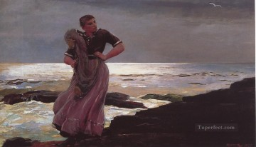 Winslow Homer Painting - Light on the Sea Realism marine painter Winslow Homer