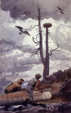 Winslow Homer Painting - Ospreys Nest Realism painter Winslow Homer