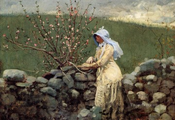 realism - Peach Blossoms2 Realism painter Winslow Homer