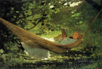 Sun Oil Painting - Sunlight and Shadow Realism painter Winslow Homer