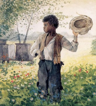 Winslow Homer Painting - The Busy Bee Realism painter Winslow Homer