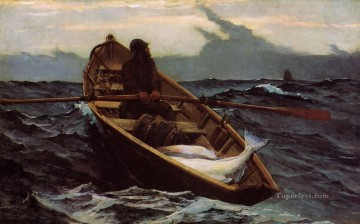 marine Canvas - The Fog Warning Realism marine painter Winslow Homer