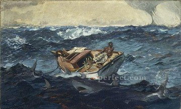 marine Oil Painting - The Gulf Stream Realism marine painter Winslow Homer