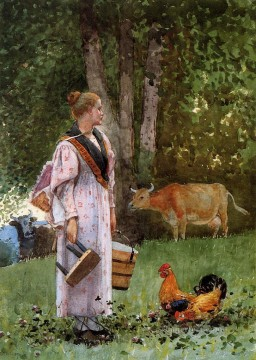 Maid Works - The Milk Maid Realism painter Winslow Homer