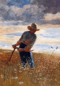 Winslow Homer Painting - The Reaper Realism painter Winslow Homer