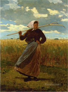 Return Art - The Return of the Gleaner Realism painter Winslow Homer