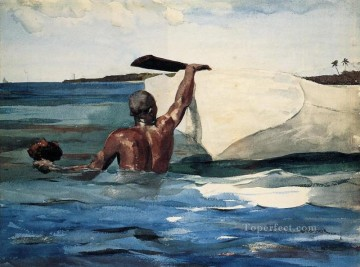 Winslow Homer Painting - The Sponge Diver Realism marine painter Winslow Homer