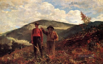 Winslow Homer Painting - The Two Guides Realism painter Winslow Homer