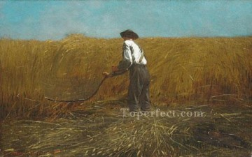 Winslow Homer Painting - The Veteran In A New Field Realism painter Winslow Homer